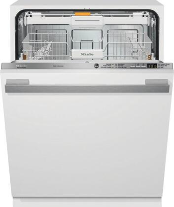 """Miele G6165SCV 24"""" 24"""" Futura Crystal Series Dishwasher with Hidden Control Panel, 6 Wash Programs, 3D Cutlery Tray, 16 Place Settings and Built In Water Softener:"""