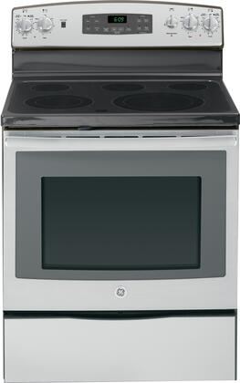 GE JB695SFSS  Electric Freestanding Range with Smoothtop Cooktop, 5.3 cu. ft. Primary Oven Capacity, Storage in Stainless Steel