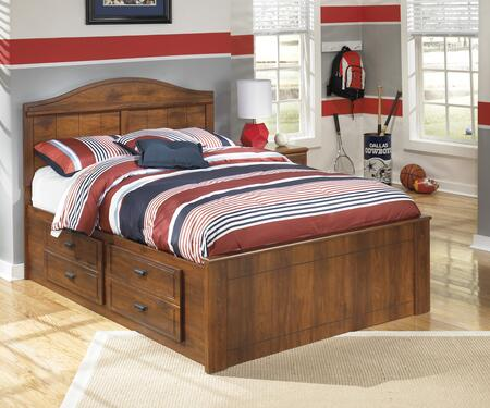 Milo Italia BR-355PNLSTG Vasquez Collection Panel Bed in Warm Brown
