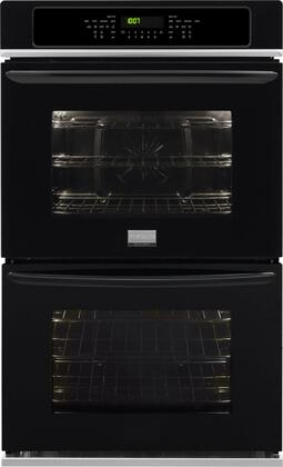 """Frigidaire FGET2765PX 27"""" 7.6 cu. ft. Double Electric Wall Oven with True Convection, Even Baking Technology, Steam Cleaning, Delay Start, Power Broil, One-Touch Options, Express-Select Controls & Delay Start in"""