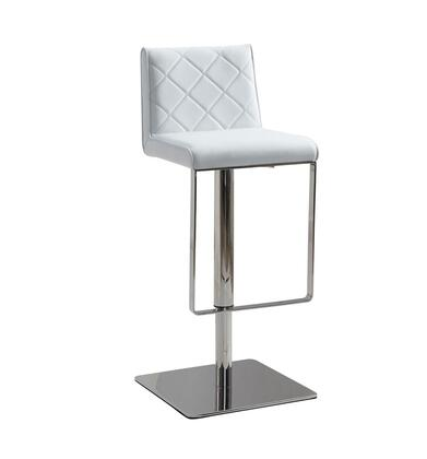 Casabianca CB922WHBAR Loft Series Residential Faux Leather Upholstered Bar Stool