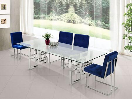 Meridian MER5PCRECDH4BLUKIT2 Alexis Dining Room Sets