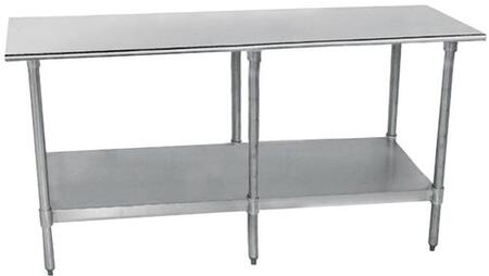 Flat Top Work Table, 6 Legs
