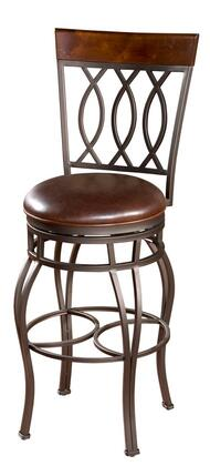 "American Heritage Bella Series 130714PPL 30"" Traditional Bar Stool with with 360 Degree Full Bearing Swivel, 3"" Cushion, Adjustable Leg Levelers, and Webbed Seating"