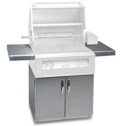 "Alfresco ALX0C XX"" Freestanding Grill Cart with 2 Access Doors, 2 Side Shelves, and Caster Wheels in Stainless Steel"