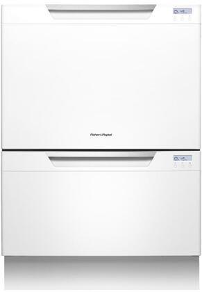 "Fisher Paykel DD24DCTW7 Semi-Integrated 9 14 Place Settings Capacity 24""Yes Built-in Dishwasher 