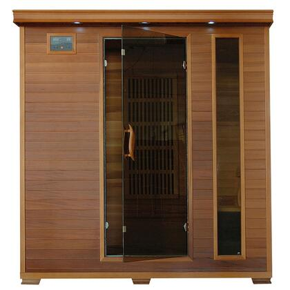 HeatWave SA13 x 4 Person Cedar X Unit with Interior Reading Lights, Built-in Sound Systems, and Carbon Heaters