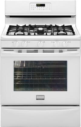 "Frigidaire FGGF3054MW 30"" Gallery Series Gas Freestanding Range with Sealed Burner Cooktop, 5.0 cu. ft. Primary Oven Capacity, Storage in White"