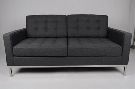 Fine Mod Imports FMI2214-2 Button Loveseat In Wool: