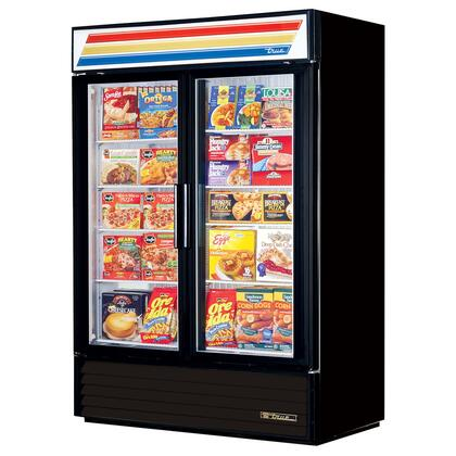 True GDM-49F Freezer Merchandiser with 49 Cu. Ft. Capacity, LED Lighting, and Thermal Insulated Glass Swing-Doors