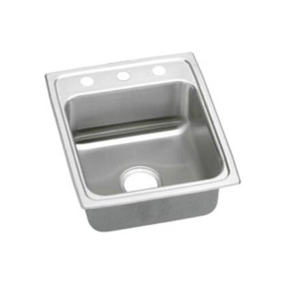 """Elkay LRAD1720550 17"""" Top Mount Self-Rim Single Bowl ADA Compliant 18-Gauge Stainless Steel Sink"""