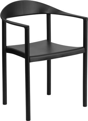Flash Furniture RUT418BKGG Contemporary Not Upholstered Metal Frame Dining Room Chair