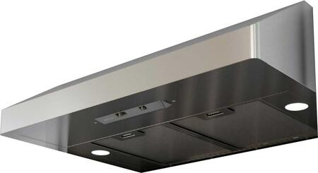 "Zephyr AK71XXAS XX"" Essentials Power Series Gust Under-Cabinet Range Hood with 400 CFM, Mesh Filters, 3 Speed Levels, Mechanical Slide Controls and Dual Level Lighting, in Stainless Steel"
