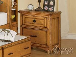 Acme Furniture 00129  Square Wood Night Stand