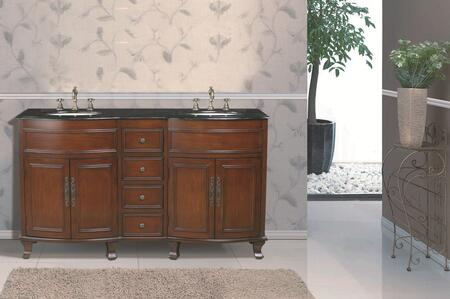 "Stufurhome GM-3316-62 62"" Winslow Double Sink Vanity"