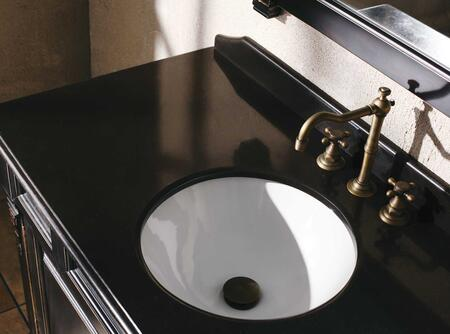 "James Martin Bosco 147-114-53X2 60"" Single X Top With 17"" White Sink, 3 Hole, 8"" Spread, In X"