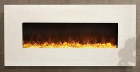 Amantii BLT-IN-5124 Artisan Built-In Fireplace with LED Light Technology, No Heater, No Fan, Remote Control, Three Colors of Fire Glass Media and Concrete Surrounds in