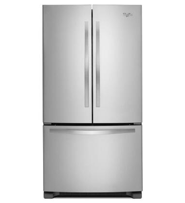 "Whirlpool WRF532SMBM 33""  French Door Refrigerator with 21.7 cu. ft. Capacity in Stainless Steel"