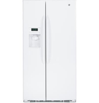 GE GSHF6HGDWW Freestanding Side by Side Refrigerator