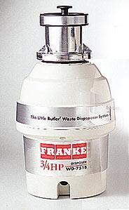 Franke WD751B Batch Feed 3/4 HP Food Disposer