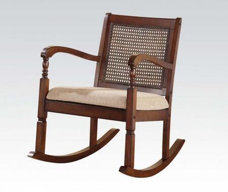 Acme Furniture 59380 Pauton Series  Wood Frame Microfiber Rocking Chair