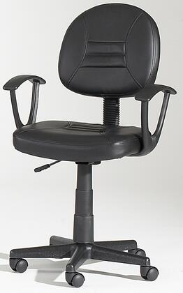 "Chintaly 0649CCHBLK 17.5""  Office Chair"