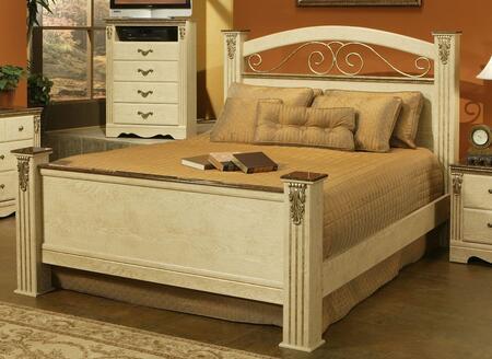 Sandberg 376I Venetian Series  California King Size Poster Bed