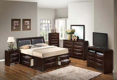 Glory Furniture G1525IQSB4DMNCHTV2 G1525 Queen Bedroom Sets
