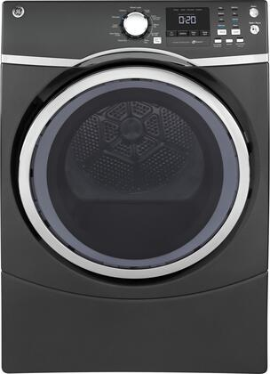 "GE GFD45GS 27"" Front Load Gas Dryer with 7.5 cu. ft. Capacity, HE Sensor Dry, 13 Dry Cycles, Sanitize Cycle, Extended Tumble, and Quick Dry Cycle:"