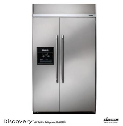 Dacor EF48DBSS Built In Side by Side Refrigerator