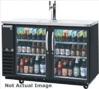 Beverage-Air DZ58G-1 Dual-Zone Glass Door Back Bar with in