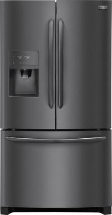 """Frigidaire FGHB2868Tx 36"""" Gallery Series French Door Refrigerator with 27.2 cu. ft. Capacity, External Water and Ice Dispenser, in"""
