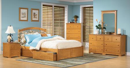 Atlantic Furniture WINFPAWTW Windsor Series  Bed