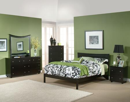 Atlantic Furniture METOFWHQN Metro Series  Queen Size Bed