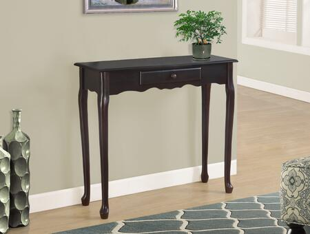 "Monessen I 310Y 36"" A Traditional Styling Accent Table With Two Wood Legs and Scalloped Apron"