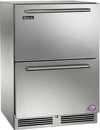"Perlick HP24Fx35C 24"" Signature Series Drawer Freezer with 5.2 cu. ft. Capacity, RapidCool Refrigeration System, Automatic Hot Gas Defrost, Stainless Steel Interior and Classic Handle, in Stainless Steel"