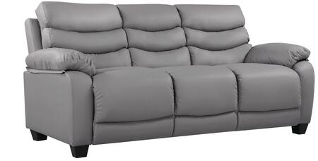 "Glory Furniture 77"" Sofa with Removable Back, Tapered Block Legs, Pub Back, Plush Padded Arms and Faux Leather Upholstery"
