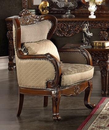 Homey Design HD296CH  Fabric Armchair with Wood Frame