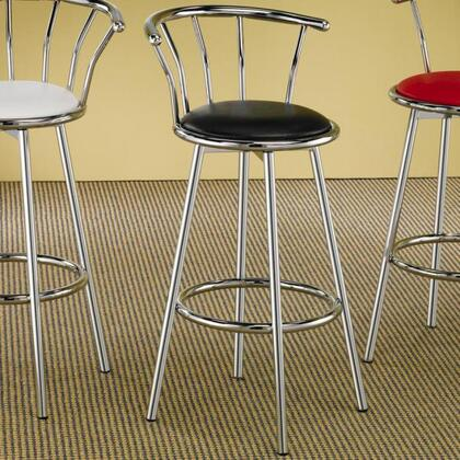 Coaster 2243 Cleveland Chrome Plated Bar Stool with Upholstered Seat