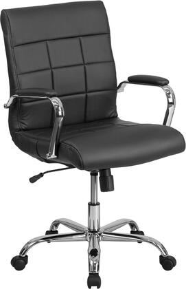 "Flash Furniture GO-2240-XX-GG 37"" - 40"" Mid-Back Executive Office Chair with Swivel Seat, Waterfall Seat, Vinyl Upholstery and Dual Wheel Casters in"