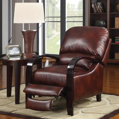 Coaster 600170 Contemporary Leather Wood Frame  Recliners
