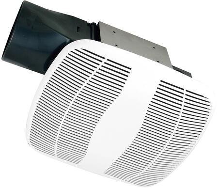 Air King BFQxW Exhaust Fan with x CFM, PC/ABS Polymeric Housing, and Polymeric Grill, in White