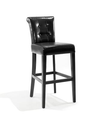 Armen Living LC4032BABL26 Residential Bonded Leather Upholstered Bar Stool
