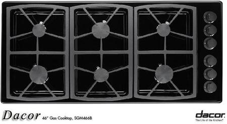Dacor SGM466B  Natural Gas Sealed Burner Style Cooktop