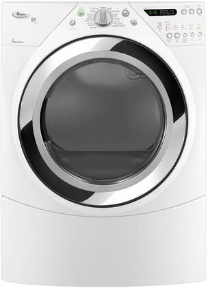 """Whirlpool WED9750WW 27"""" Electric Duet Steam Series Electric Dryer 