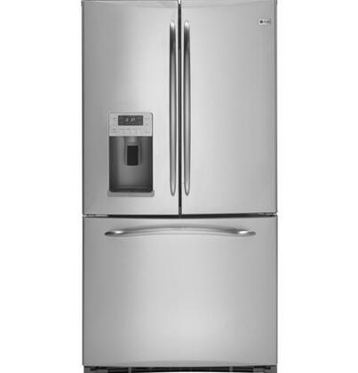 GE PFCS1RKZSS  Counter Depth French Door Refrigerator with 21.0 cu. ft. Total Capacity 6 Glass Shelves