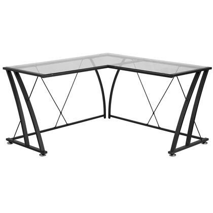 Glass L-Shape Desk