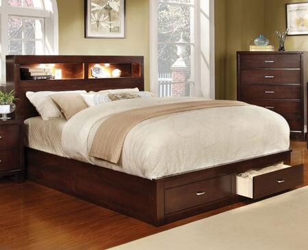 Furniture of America CM7291CHCKBED Gerico II Series  California King Size Bed