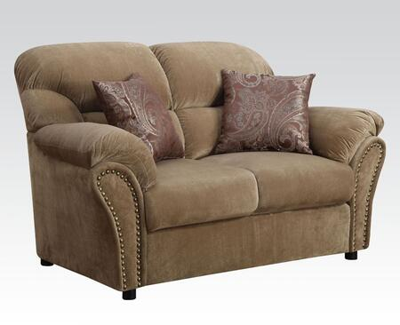 Acme Furniture Patricia Collection 65 Loveseat With 2 Pillows