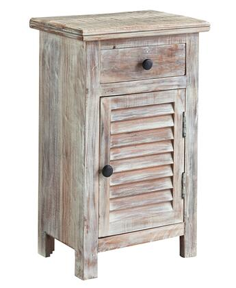 Signature Design by Ashley Charlowe B013-X92 One Door Night Stand with Top Drawer, One Shelf Behind Door and Bronze Colored Knobs in